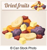 Dried Fruit clipart mix fruit  and Set of Dried