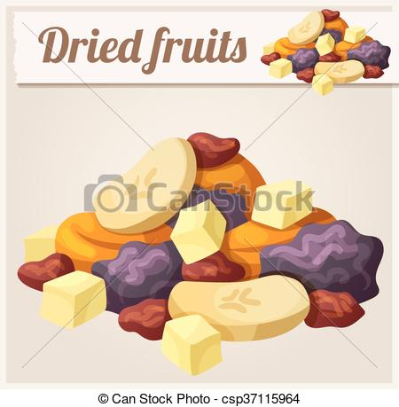 Dried Fruit clipart mixed Vector Dried of  Detailed
