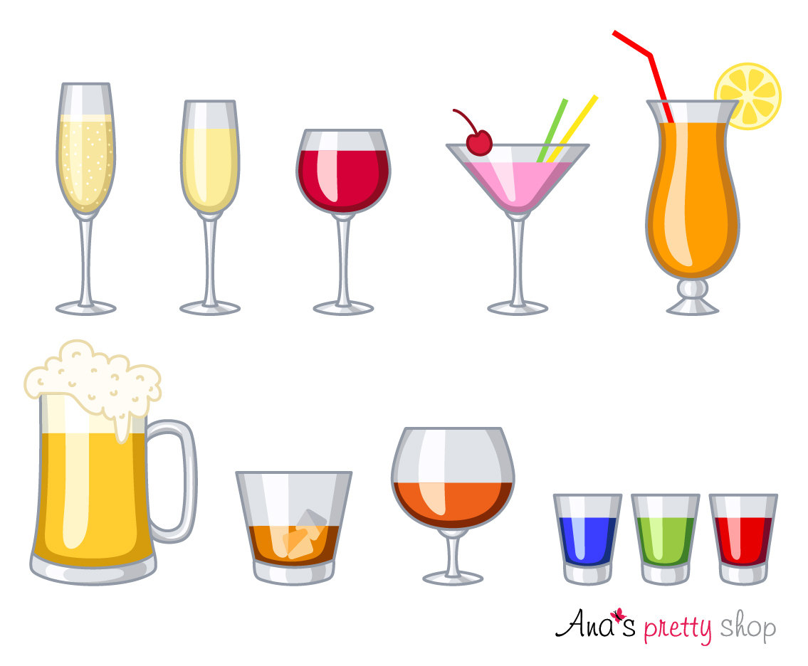 Boose clipart beer cup Wine glass clipart martini Alcohol
