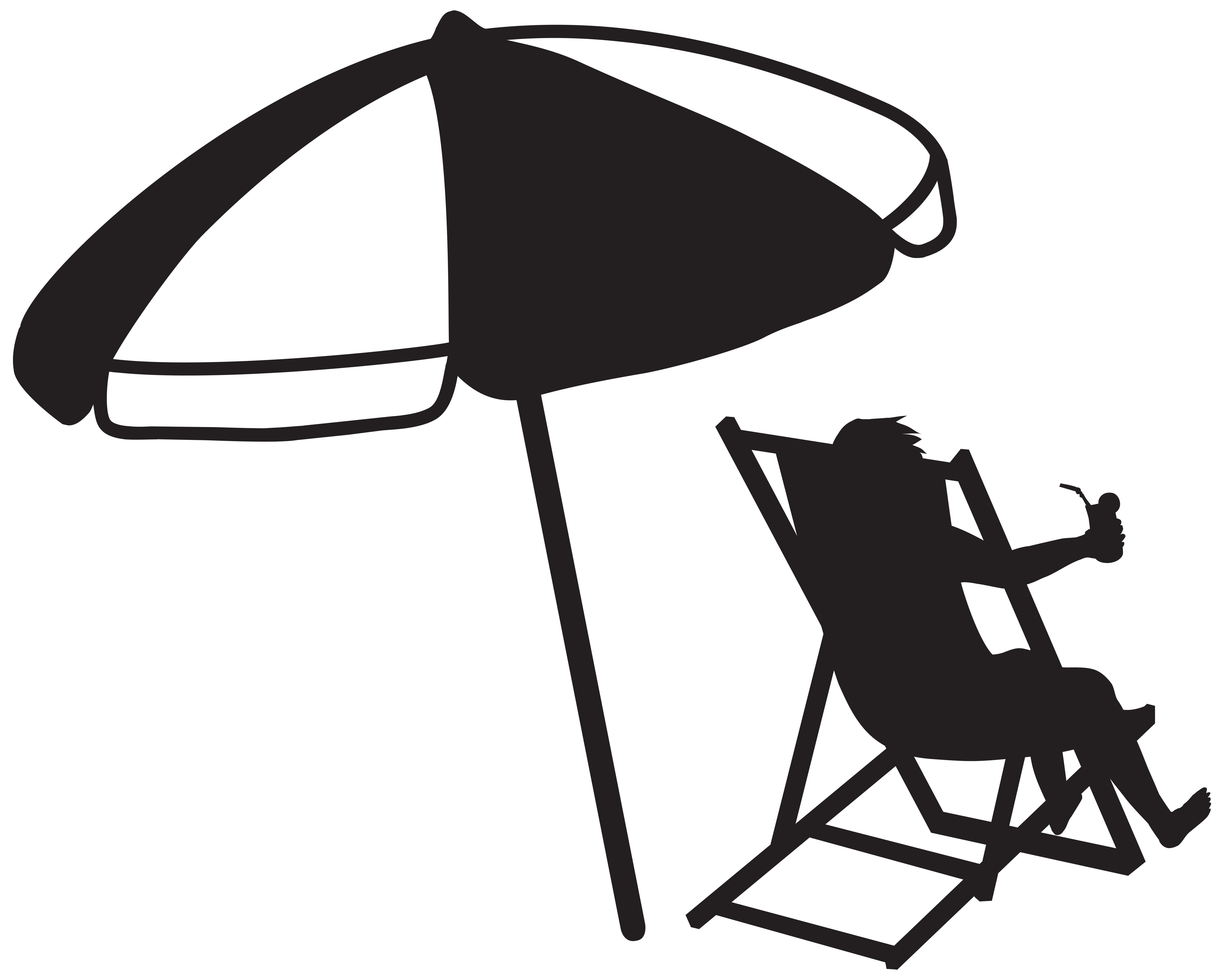 Umbrella clipart man Beach and Transparent the with