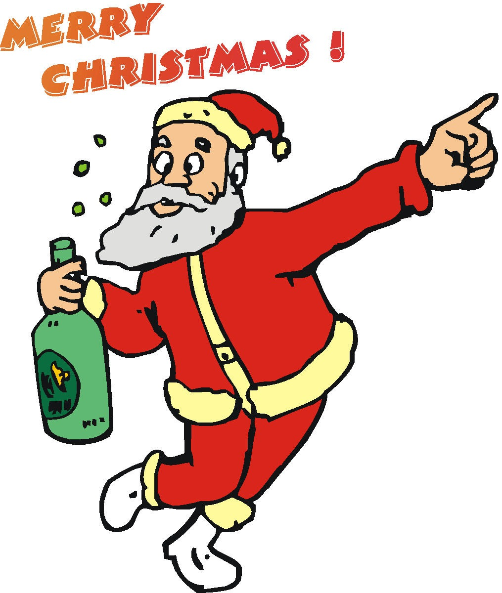 Drawn santa beer drinking Free Clipartwork « Clipart —