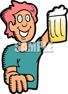 Beer clipart drinking alcohol Art a Image: of Holding