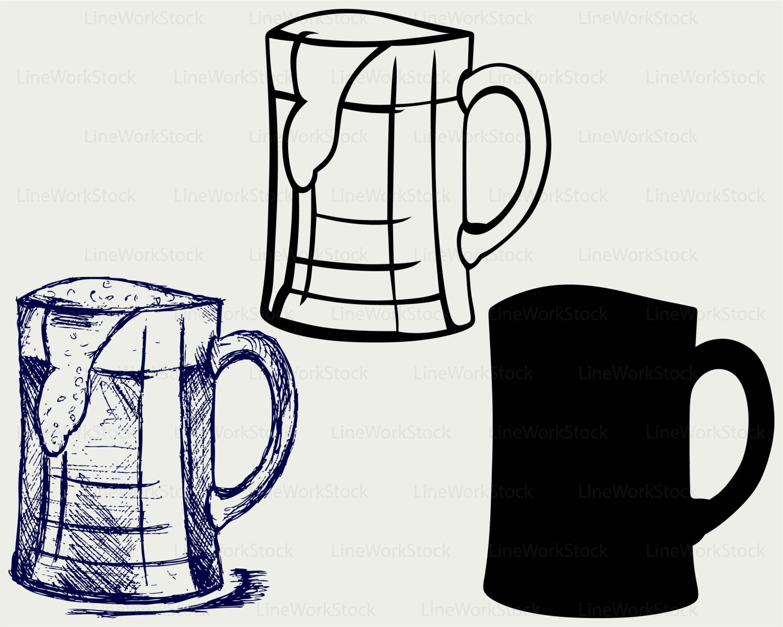 Mug clipart digital Cricut drink mug Beer a