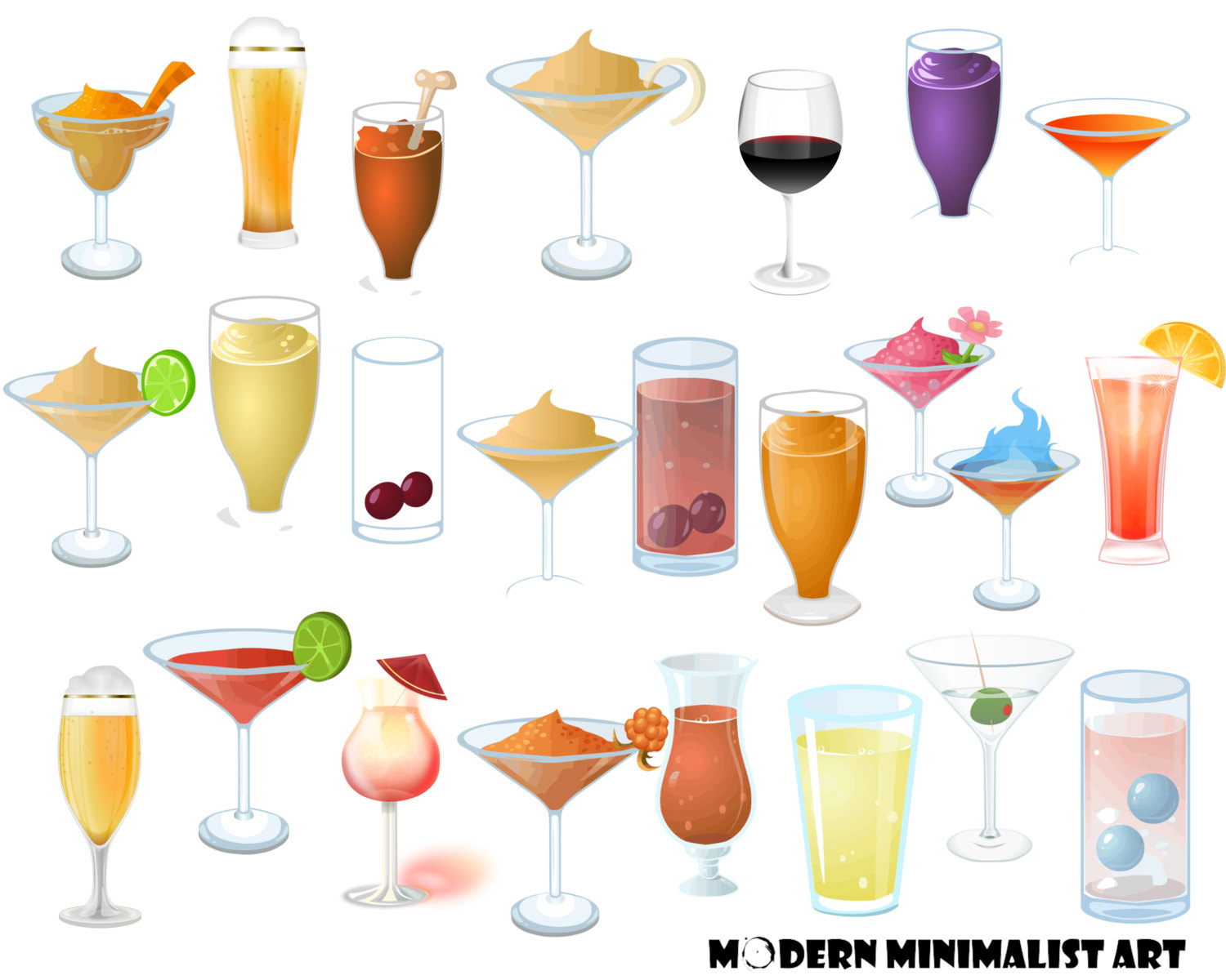Beer clipart drinking alcohol Martini a Drinks  24