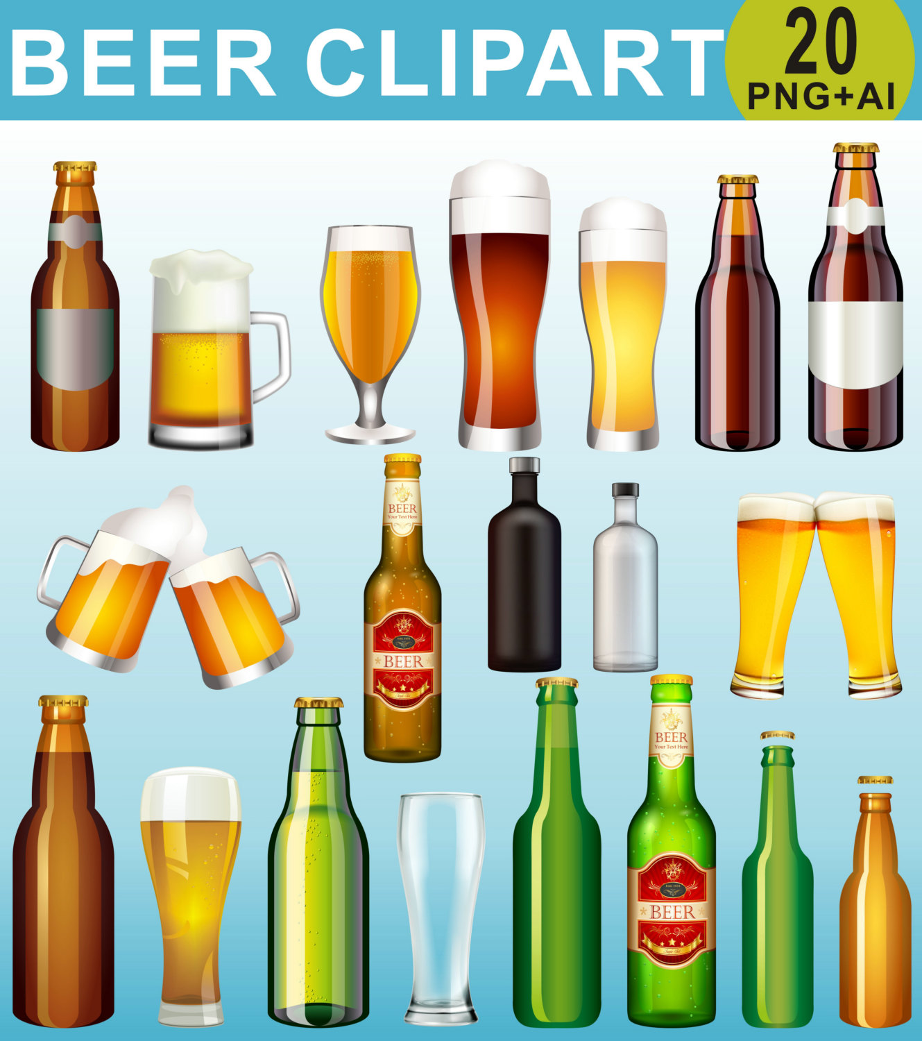 Beer clipart drinking alcohol Art a Bottle Alcohol Beer