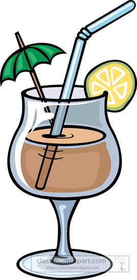 Beverage clipart straw Clipart tropical Beverage tropical with