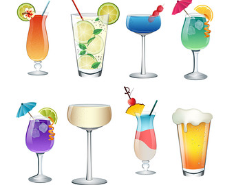 Beverage clipart summer drink JPG Art Drinks PNG Etsy
