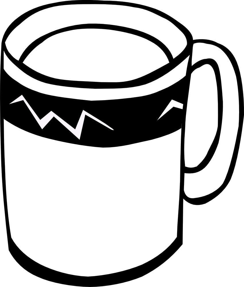 Mug clipart black and white Fast White And Fast Coffee