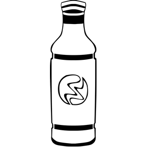 Energy Drink clipart black and white #14