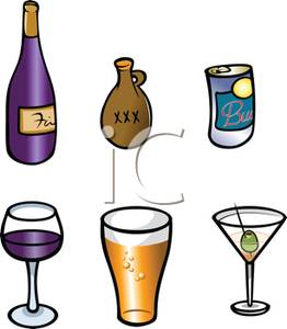 Beverage clipart alcoholic drink Art Alcoholic Image: Classes Bottles