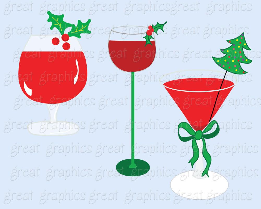 Drink clipart christmas drink Art Christmas Instant Invitation Clipart