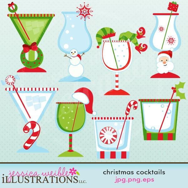 Drink clipart christmas drink Christmas Cocktails Clipart drinks najlepszych