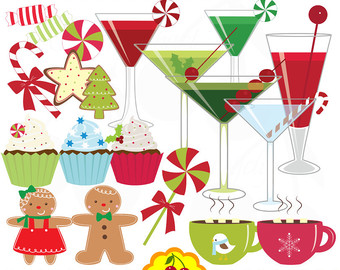 Drink clipart christmas drink Personal Sweet treat art set