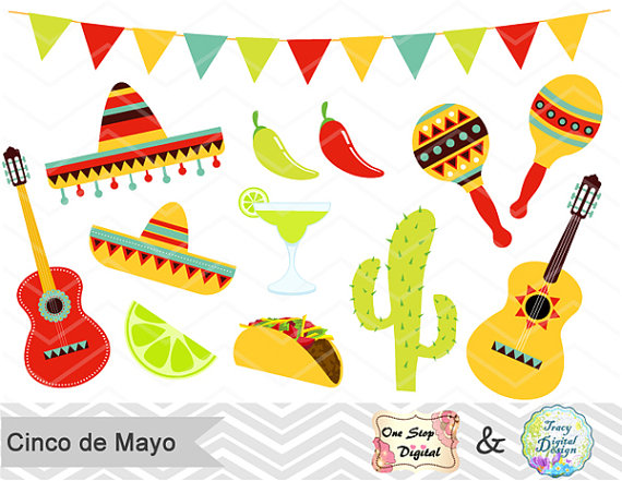 Chile clipart cinco de mayo fiesta Fiesta Mayo de Cinco Digital