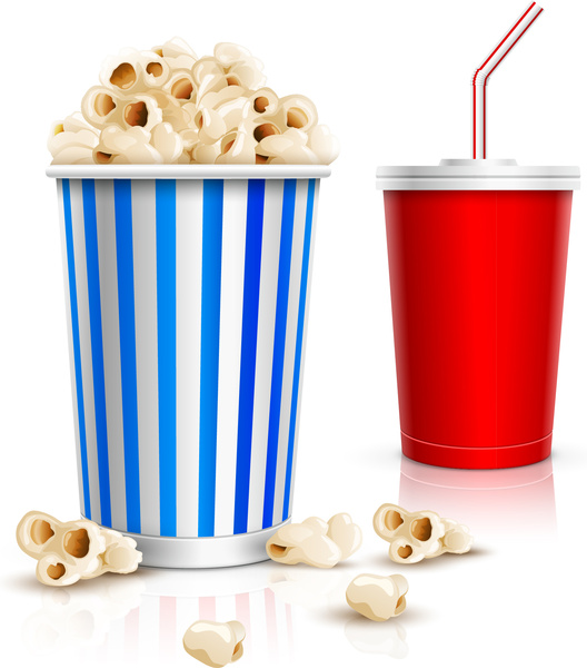 Popcorn clipart blue  vector and (171 vector)