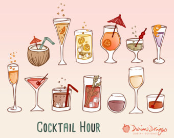 Alcohol clipart cocktail hour Art Cocktail tai cocktail wine