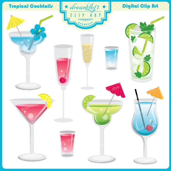Wine clipart cocktail hour Tropical on Hour images more