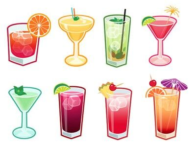 Wine clipart cocktail hour Clip 336 on Drinks Ice