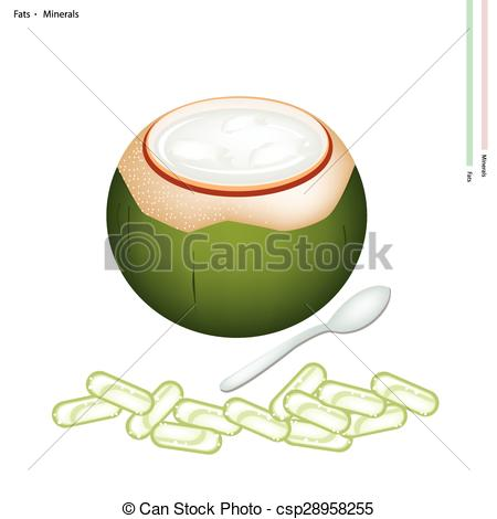Drink clipart coconut shell  Jelly with csp28958255 Minerals