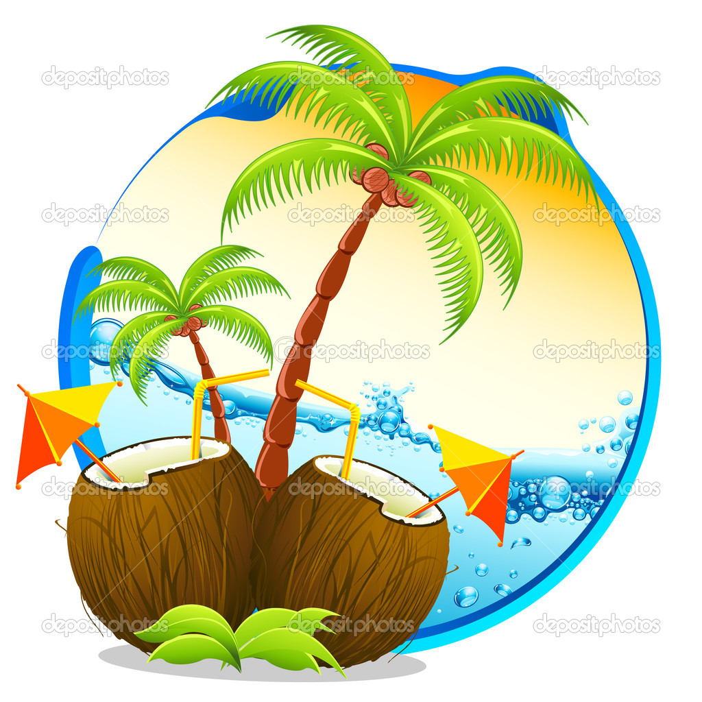 Drink clipart coconut shell Drinks Image Pictures Image Tropical