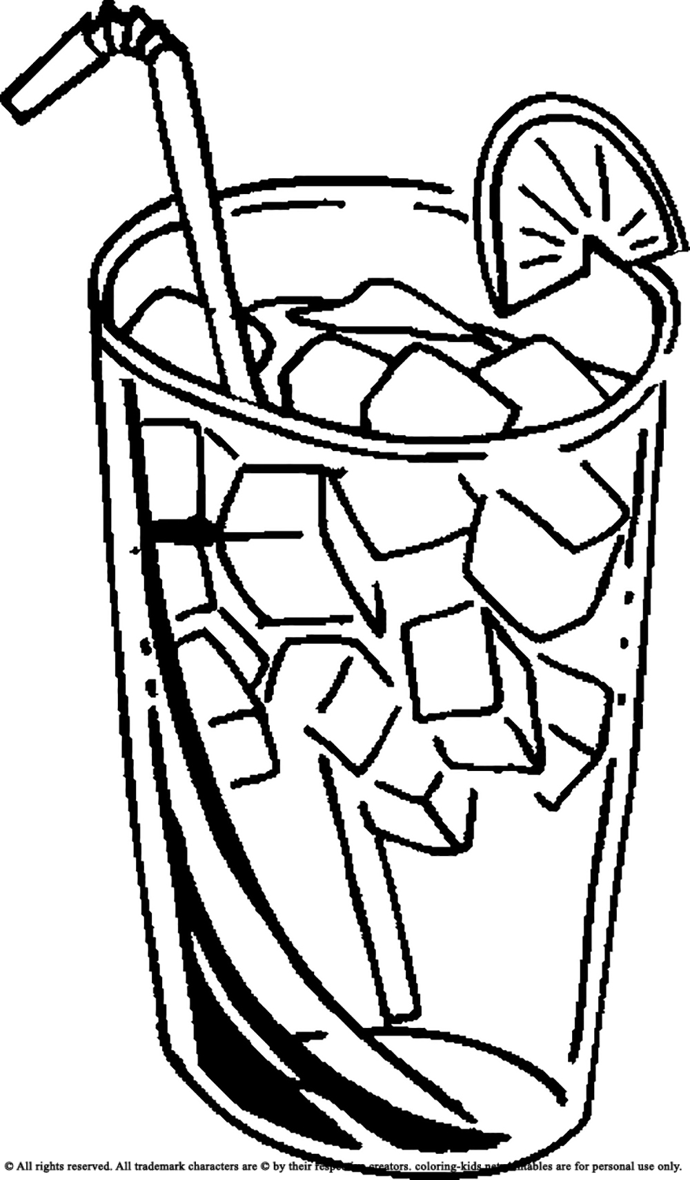 Juice clipart black and white Juice Cold Pages Drinking Drinks