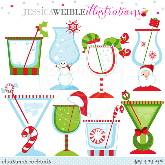 Drink clipart cute Clipart  Digital Use Cocktails