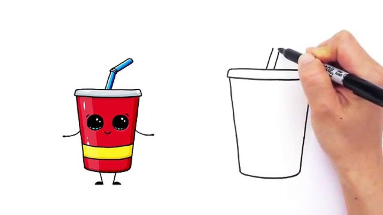 Drink clipart cute cartoon Cup Cute Soda by Step