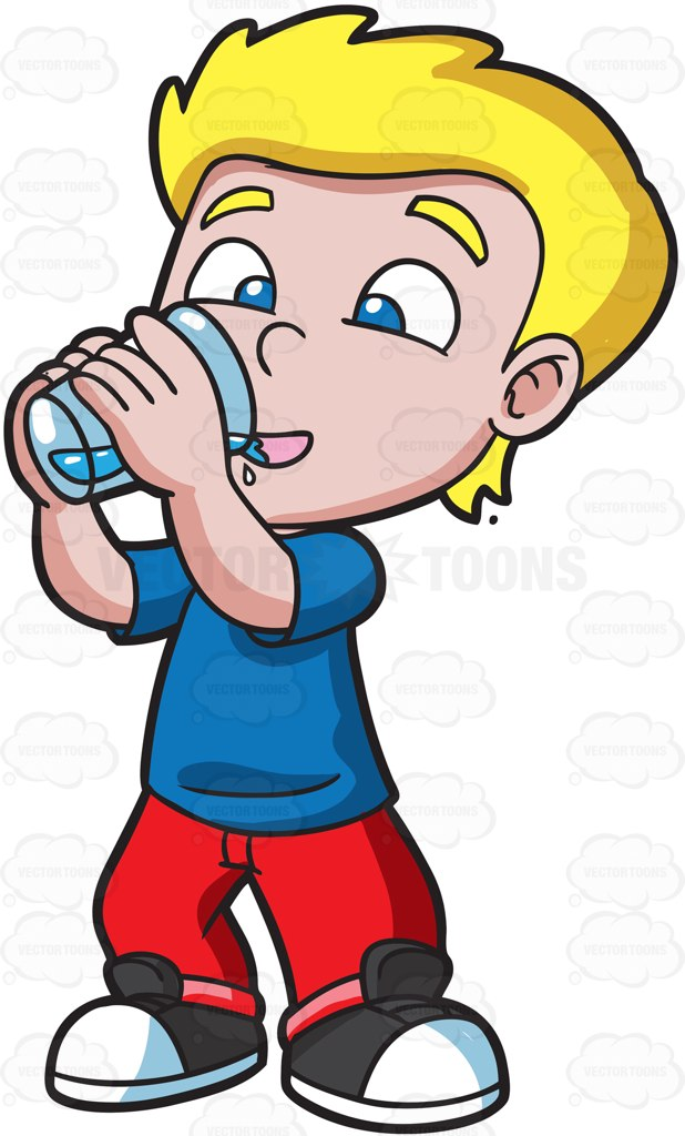 Smileys clipart drinking water Young alcohol Boy Water and