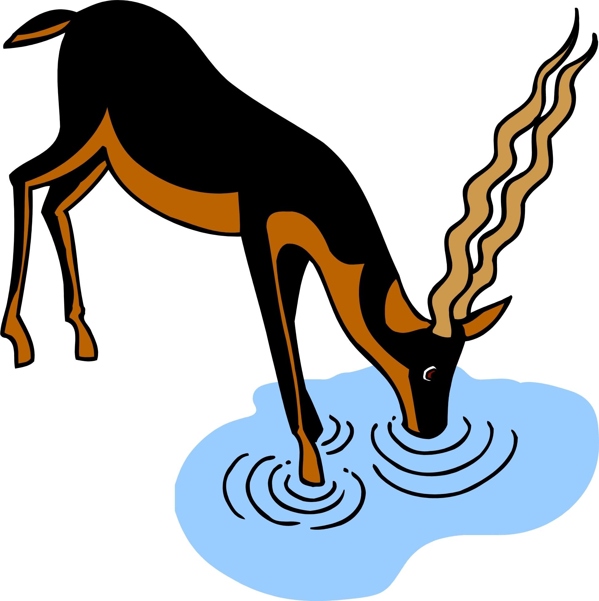 Animal clipart drink water Water Clipart Free Clipart Images