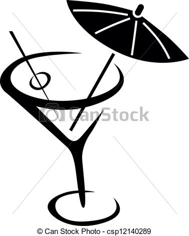 Wodka clipart martini glass Of cocktail  Vector Glass