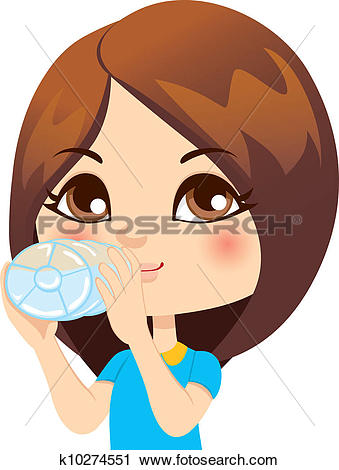 Drink clipart drinking water Girl Drinking collection water Bottled