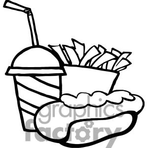 French Fries clipart crinkle cut Drinking Black Panda Clipart Clipart
