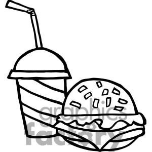 Drink clipart fast food Free Clipart Black White Panda