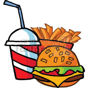 Drink clipart fast food Fast  Royalty Drink With