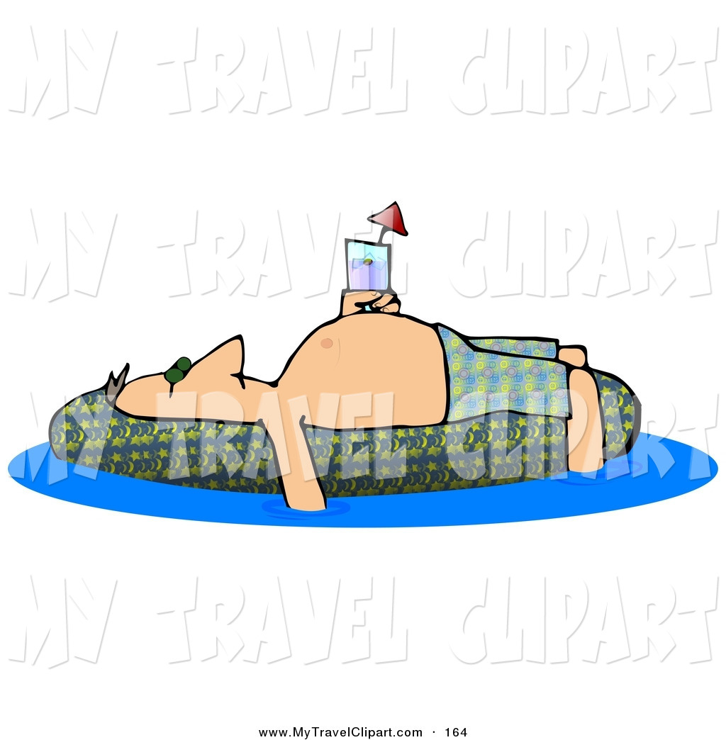 Floating clipart background A Bathing of out Man