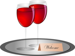 Drink clipart food tray Wine on Wine Silver Wine