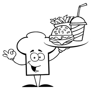 Kfc clipart black and white Healthy Black Panda  White