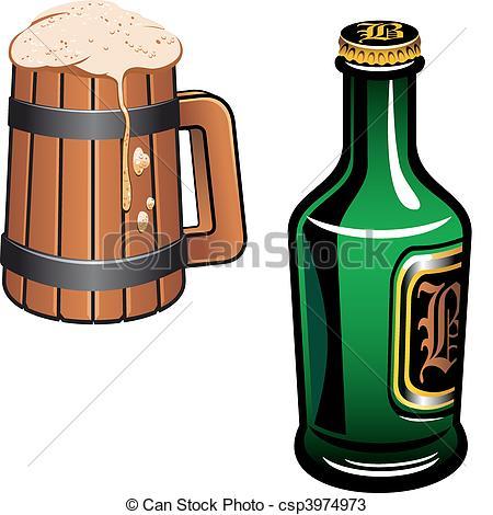 Drink clipart german beer German Cold oktoberfest Vectors csp3974973