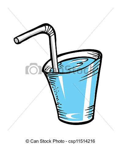 Drink clipart glass water Search water Vector straw Art