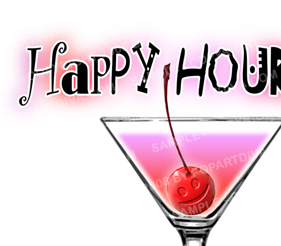 Drink clipart happy hour China Happy cps Martini Tiobls