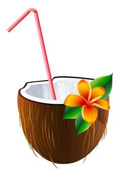 Caribbean clipart umbrella drink Exotic Cocktail Pinterest HAWAIIAN TROPICAL