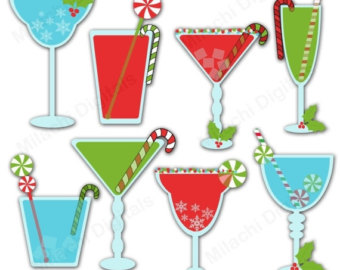 Drink clipart holiday cocktail Drinks SALE 60% Christmas graphics