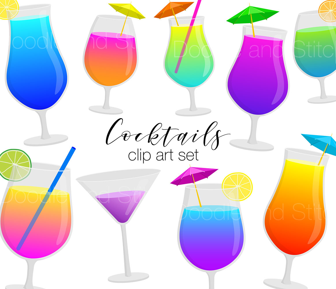 Drink clipart holiday cocktail Art a This digital Pictures