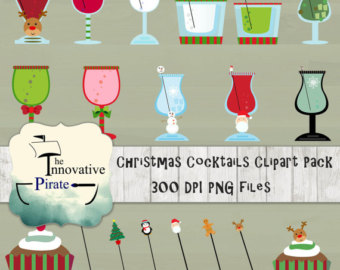 Drink clipart holiday cocktail Holiday Clipart Christmas Pack Christmas