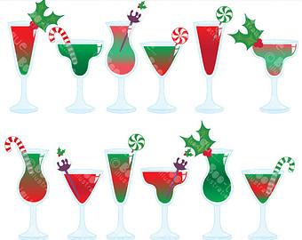 Beverage clipart party drink Art Christmas Clip Christmas Christmas