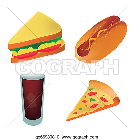 Pizza clipart hot food Pizza a fast Four and