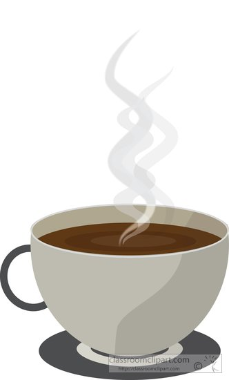 Coffee clipart hot coffee Clipart Free  with steam