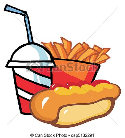 Drink clipart hot dog Hot And With Hot Fries