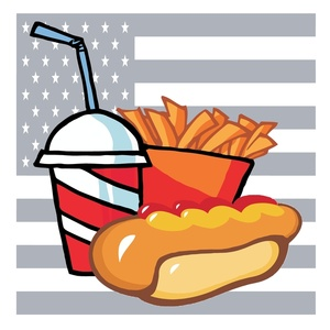Hot Dog clipart american food A Hot Behind With Clipart
