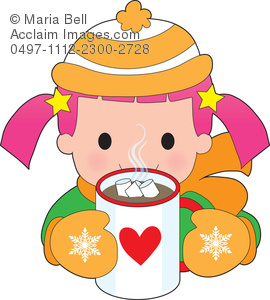 Beverage clipart hot drink Hot Clipart Child Drinking Wintertime